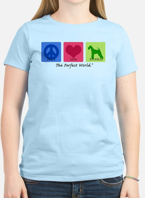 Peace Love Airedale T-Shirt