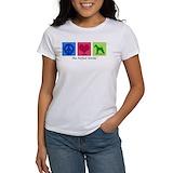 Airdale terrier peace love Women's T-Shirt
