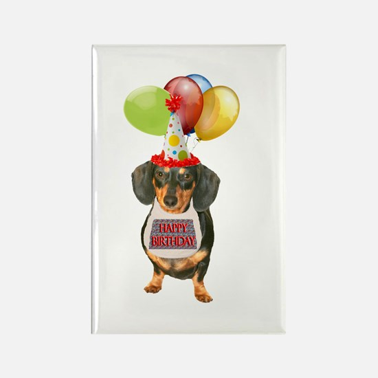 Black Doxie Birthday Rectangle Magnet