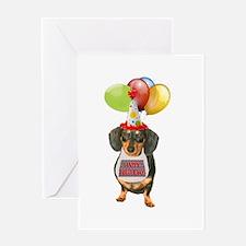 Black Doxie Birthday Greeting Card