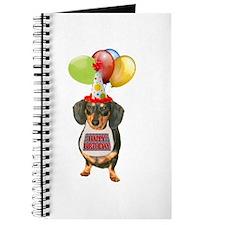 Black Doxie Birthday Journal