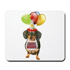 Black Doxie Birthday Mousepad