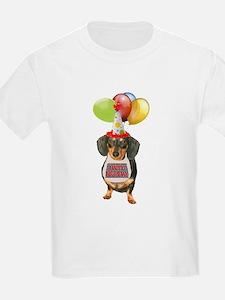 Black Doxie Birthday T-Shirt