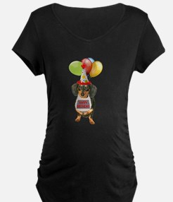 Black Doxie Birthday T-Shirt