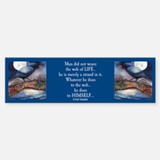 Moonlight Crow Raven Bumper Bumper Bumper Sticker