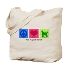 Peace Love Afghan Tote Bag