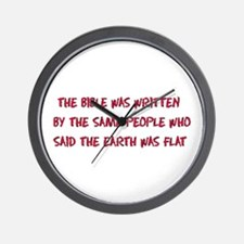 Flat Earth Historians Wall Clock