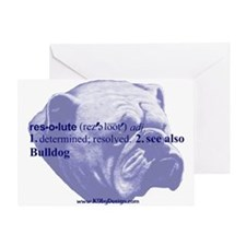 Resolute--Bulldog Greeting Card