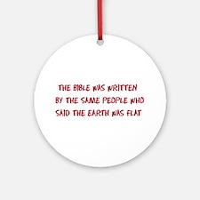 Flat Earth Historians Ornament (Round)