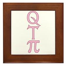 Q T Pi Cute Pi Framed Tile
