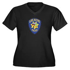 Los Altos Police Women's Plus Size V-Neck Dark T-S