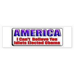 American Idiots Bumper Bumper Sticker