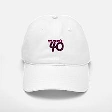 Mom's 40th Birthday Baseball Baseball Cap