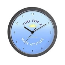 Nude Attitude blue - Wall Clock