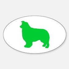 Border Collie St. Patty's Day Oval Decal