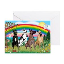 4Greyts-Rainbow1 Greeting Card