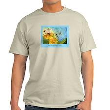 Summer Blue Garden CAT T-Shirt