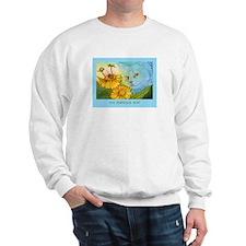 Summer Blue Garden CAT Sweatshirt