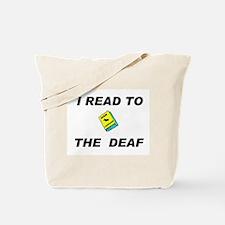 DEAF READER Tote Bag