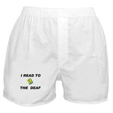 DEAF READER Boxer Shorts