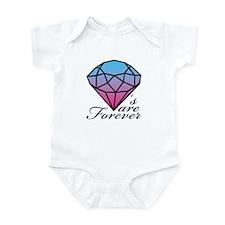 Diamonds are Forever A (Dark) Infant Bodysuit