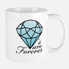 Diamonds are Forever B (Dark) Mug