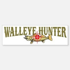 Walleye Hunter Bumper Bumper Bumper Sticker