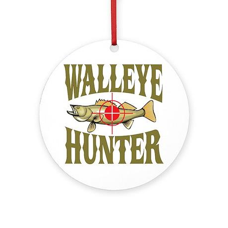 Walleye Hunter Ornament (Round)
