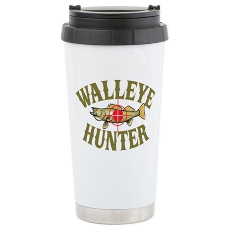 Walleye Hunter Stainless Steel Travel Mug