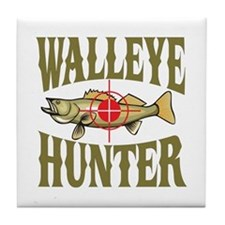 Walleye Hunter Tile Coaster