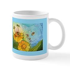 Summer Blue Garden CAT Mug