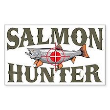 Salmon Hunter Rectangle Bumper Stickers
