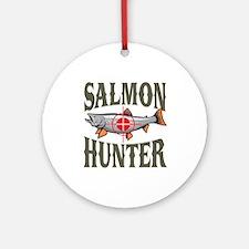 Salmon Hunter Ornament (Round)