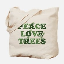 Peace Love Trees Tote Bag