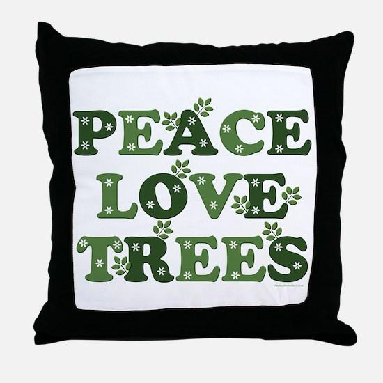Peace Love Trees Throw Pillow