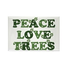 Peace Love Trees Rectangle Magnet