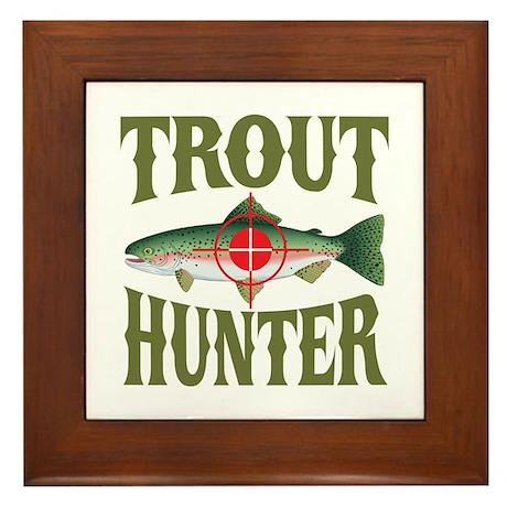 Trout Hunter Framed Tile
