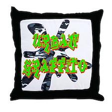 Urban Graffito Throw Pillow