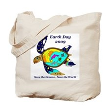 Earth Day Sea Turtle Tote Bag