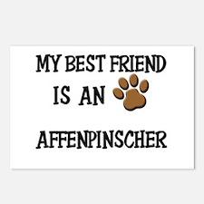 My best friend is an AFFENPINSCHER Postcards (Pack