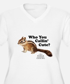Nature Dome Women Plus Chipmunk V-Nk Tee