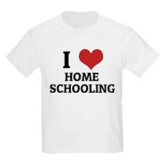 I Love Home Schooling Kids T-Shirt