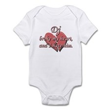 Dj broke my heart and I hate him Infant Bodysuit