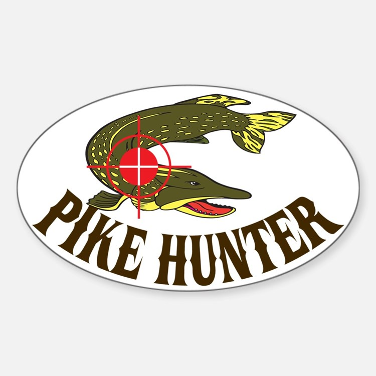 Pike fishing bumper stickers car stickers decals more for Fishing car stickers