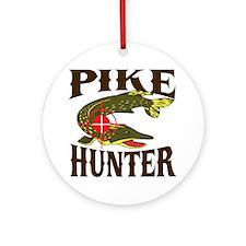 Pike Hunter Ornament (Round)