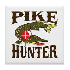 Pike Hunter Tile Coaster