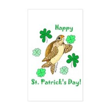 St. Pat's Day Sea Turtle Rectangle Decal