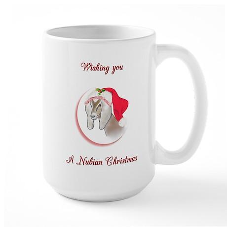 Nubian Doe (Goat) Christmas Large Mug