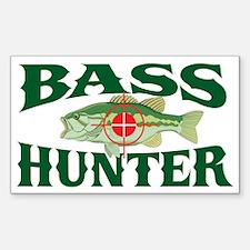 Bass Hunter Rectangle Decal