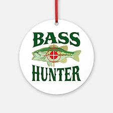 Bass Hunter Ornament (Round)